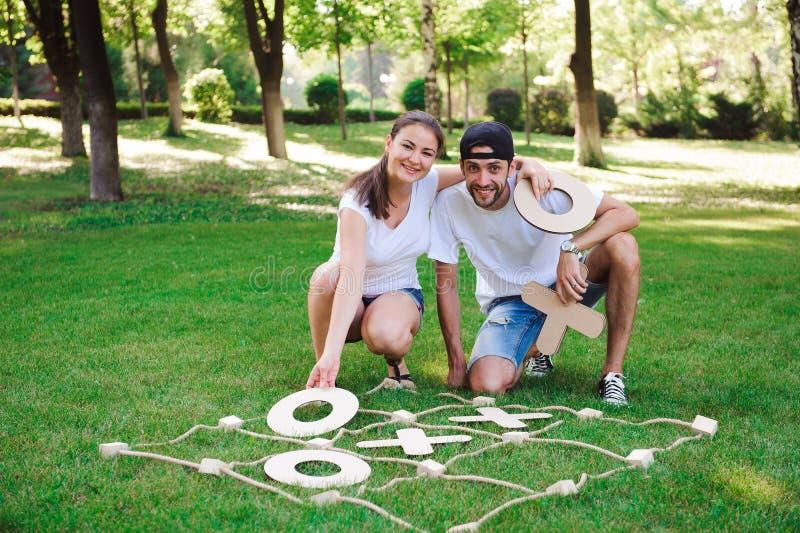Tic-TAC-teen Strategiespel Criss Cross Leisure Recreation Concep royalty-vrije stock fotografie