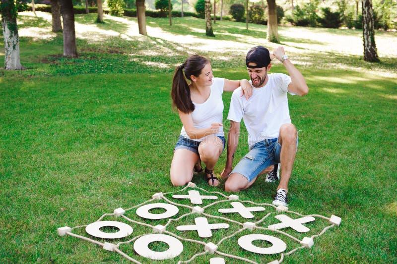 Tic-TAC-teen Strategiespel Criss Cross Leisure Recreation Concep royalty-vrije stock afbeelding