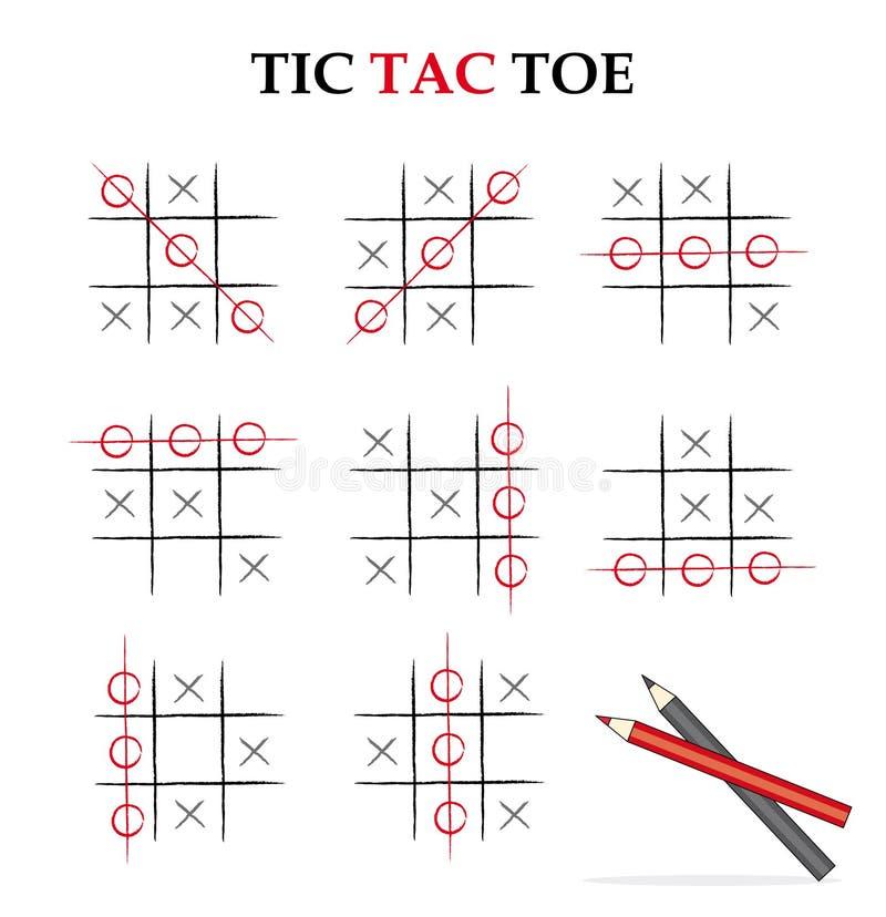 Tic tac toe stock photography