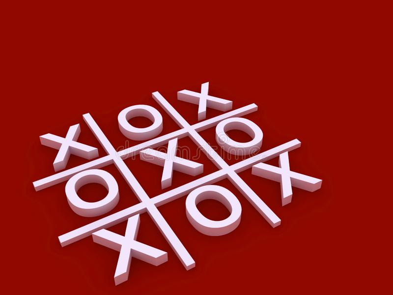 A tic tac toe game board royalty free stock photos