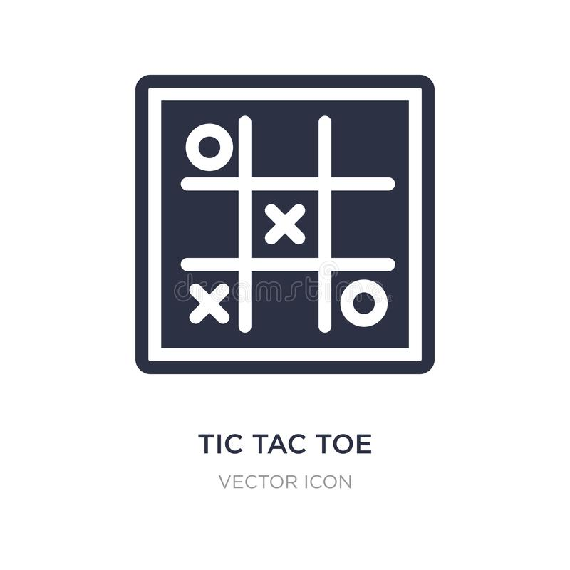 tic tac toe icon on white background. Simple element illustration from Entertainment and arcade concept royalty free illustration