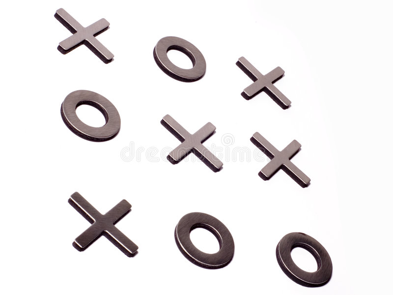 Download Tic-tac-toe Isolated On White Stock Image - Image: 1412235