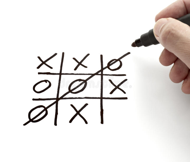 Download Tic Tac Toe Leisure Game Mental Scribble Stock Photo - Image: 13986020