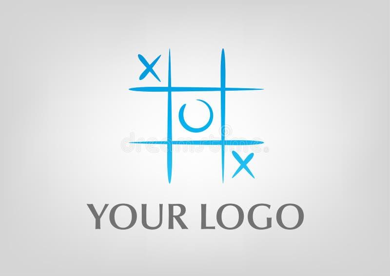 Tic tac toe logo royalty free stock photos