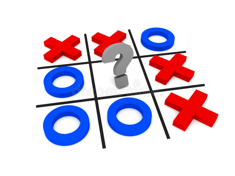 Download Tic-tac-toe, uncertainty stock illustration. Image of concepts - 14468380