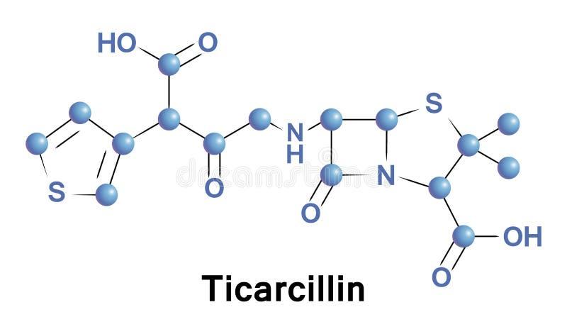 Ticarcillin антибиотик carboxypenicillin иллюстрация штока