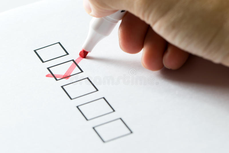 Tick on check list royalty free stock image