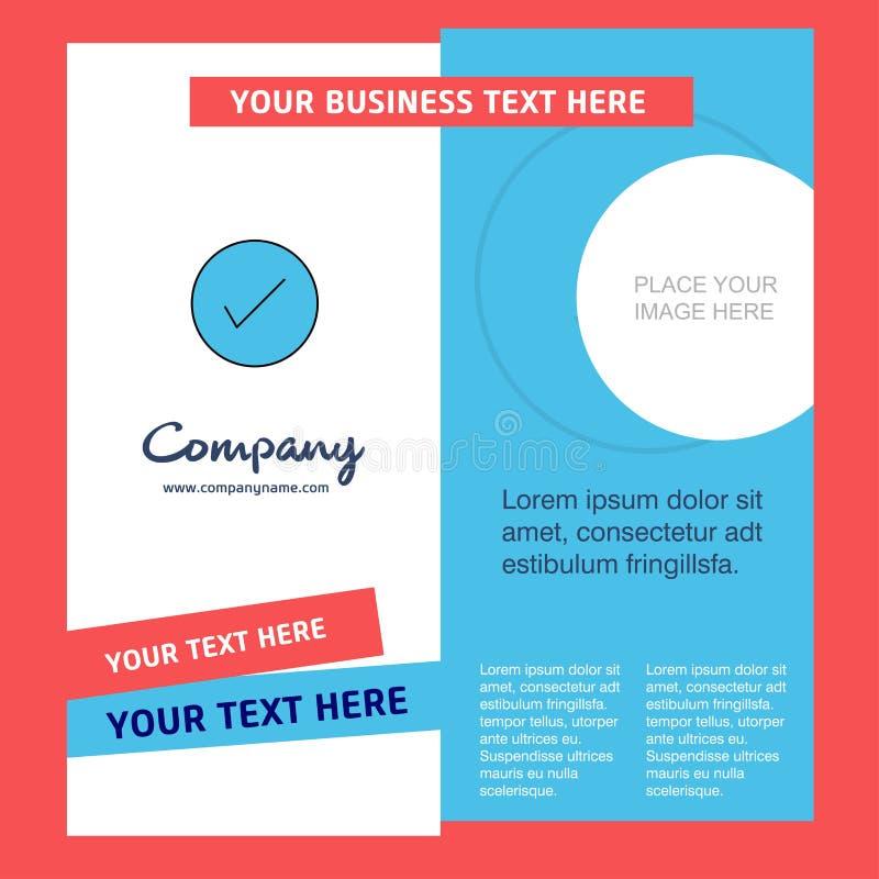Tick Company Brochure Template Molde de Busienss do vetor ilustração royalty free