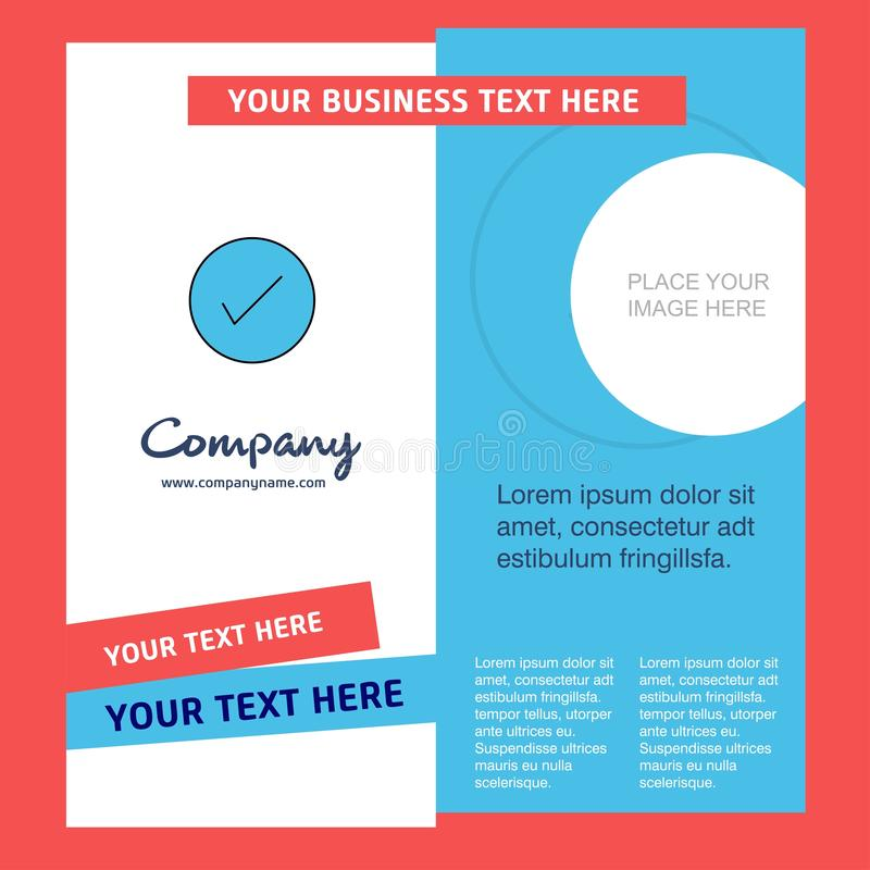 Tick Company Brochure Template VektorBusienss mall royaltyfri illustrationer