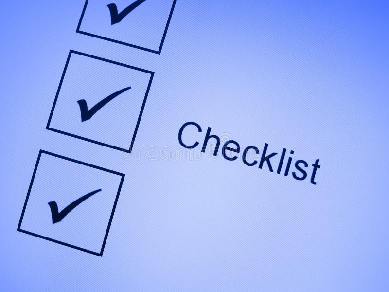 Download Tick marks on checklist stock illustration. Illustration of tick - 11039680