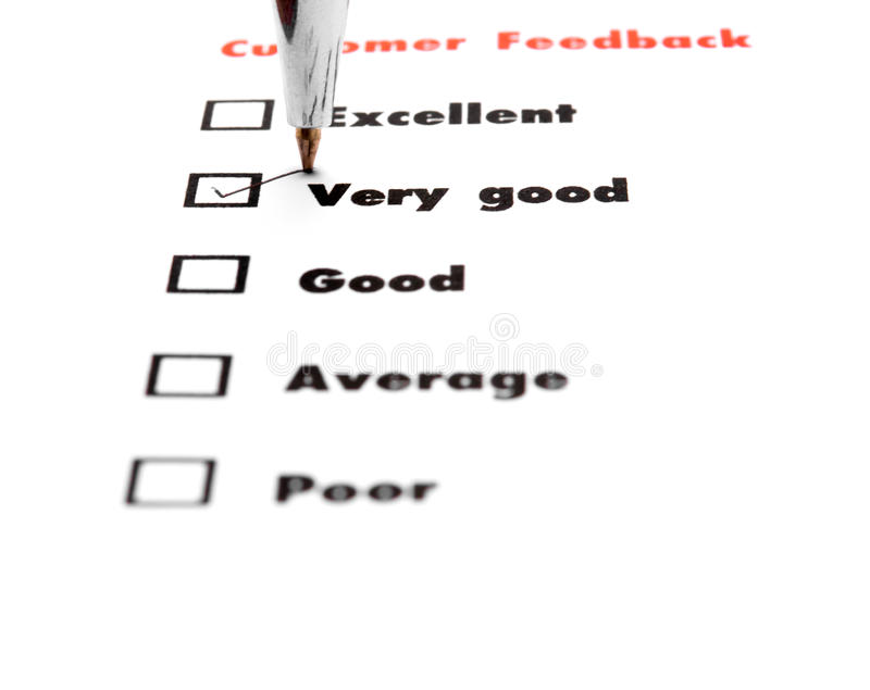 Tick placed you select choice. excellent, very good, good, average. Poor - check very good stock photos