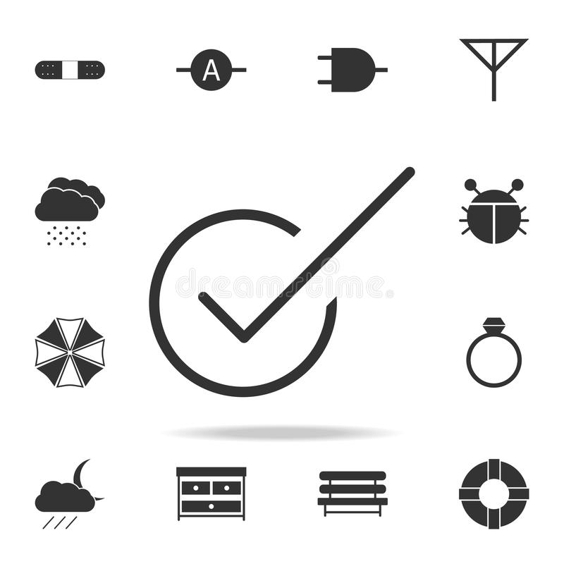 Tick sign,check mark OK icon. Detailed set of web icons. Premium quality graphic design. One of the collection icons for websites,. Web design, mobile app on stock illustration