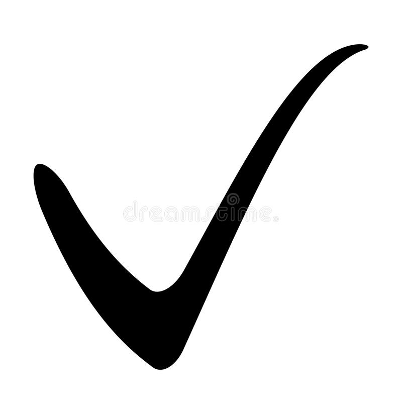 Tick Sign Check Mark Vector Symbol Icon Design Stock Vector