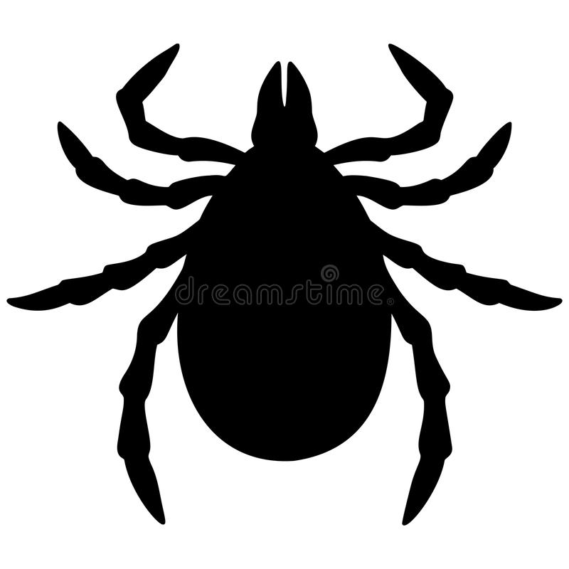 Tick Silhouette illustration libre de droits