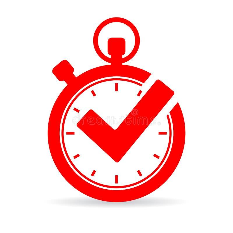 Tick timer vector icon stock illustration