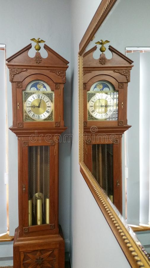 Tick Tock Grandfather Clock royalty-vrije stock foto's