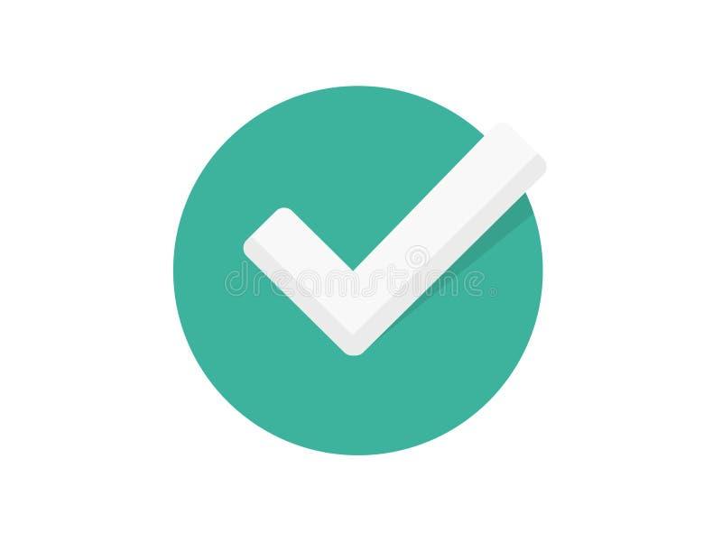 Tick vector icon sign symbol vector illustration