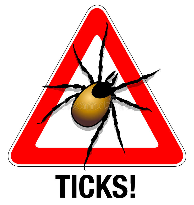 Download Tick warning stock illustration. Illustration of illustration - 23999180