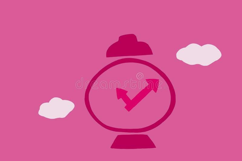 Ticka f?r biologisk klocka vektor illustrationer