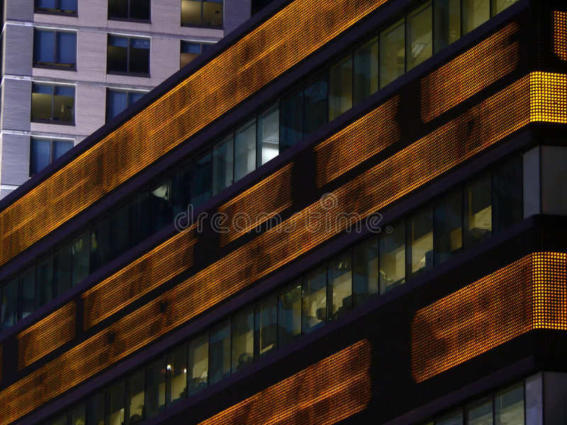 Ticker courant dans le Times Square image stock