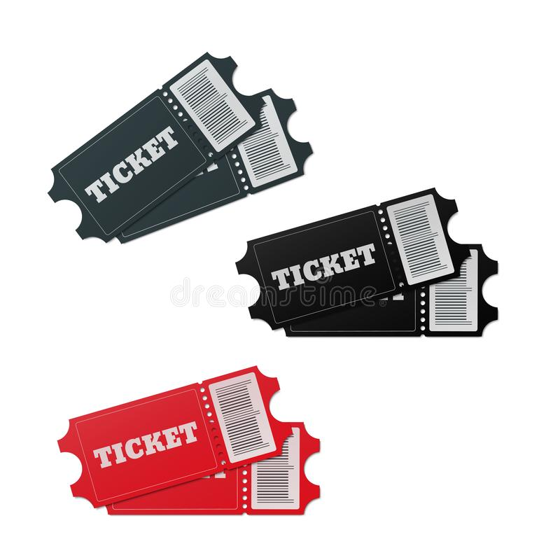 Download Ticket1 ilustración del vector. Ilustración de icono - 100527584