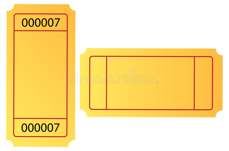 Ticket. Isolated blank ticket with nice gradient