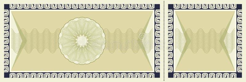 Ticket background vector illustration