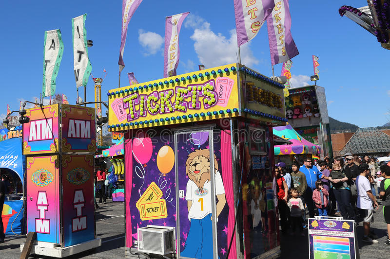 Ticket Booth at a Carnival royalty free stock photo