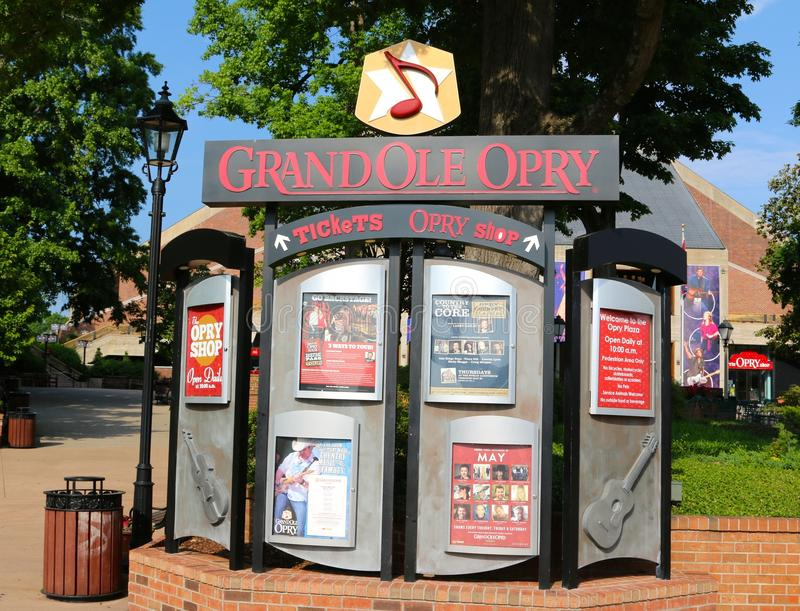 Ticket Booth at The Grand Ole Opry House. The Grand Ole Opry is a weekly country music stage concert in Nashville, Tennessee that has presented the biggest stars stock image