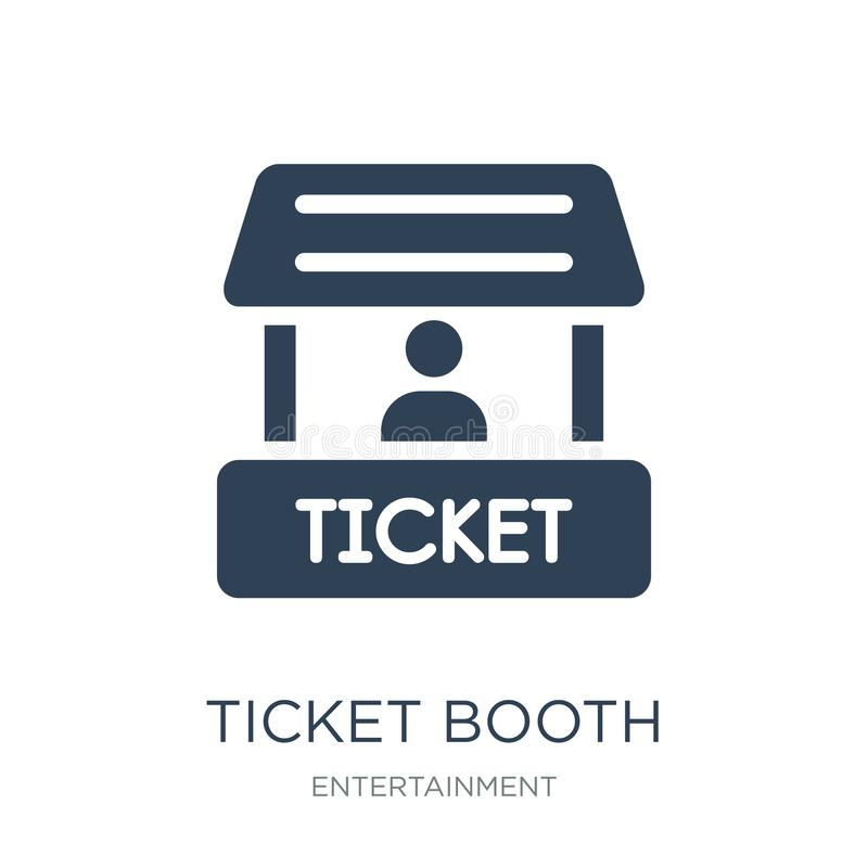 Ticket booth icon in trendy design style. ticket booth icon isolated on white background. ticket booth vector icon simple and. Modern flat symbol for web site stock illustration