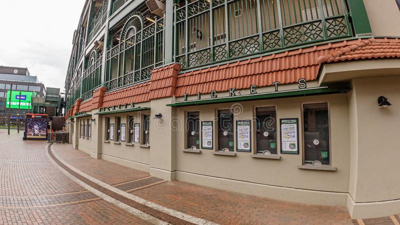 Ticket box office at Wrigley Field baseball stadium - CHICAGO, USA - JUNE 10, 2019. Ticket box office at Wrigley Field baseball stadium - CHICAGO, UNITED STATES stock images