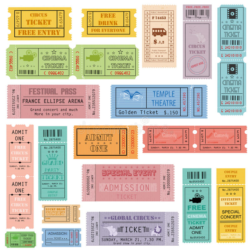 Ticket Collection Stock Vector