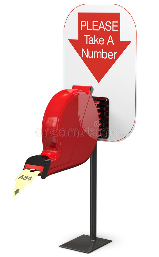 Free Ticket Dispenser - Isolated Royalty Free Stock Photos - 9354878