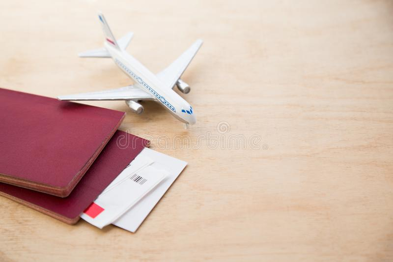 Ticket flight air plane travel business traveller trip passport. Traveler airplane passenger journey air ticket booking aircraft boarding concept. close-up stock images