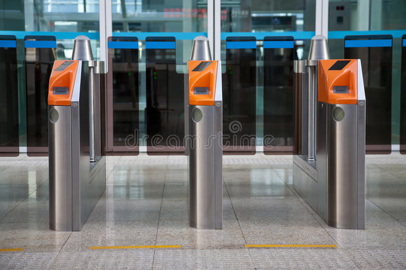Download Ticket Gate stock photo. Image of automatic, china, self - 17616346