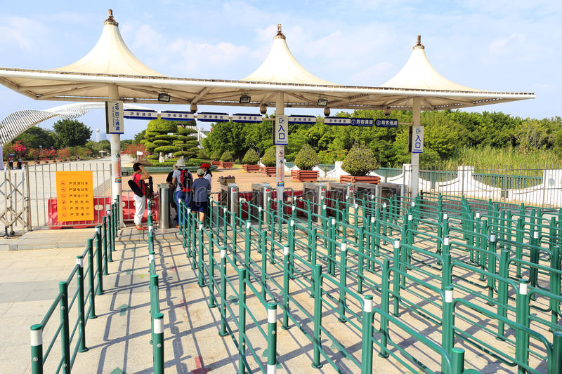 Download Ticket Gate Of Yuanboyuan Park Editorial Photo - Image: 34534186