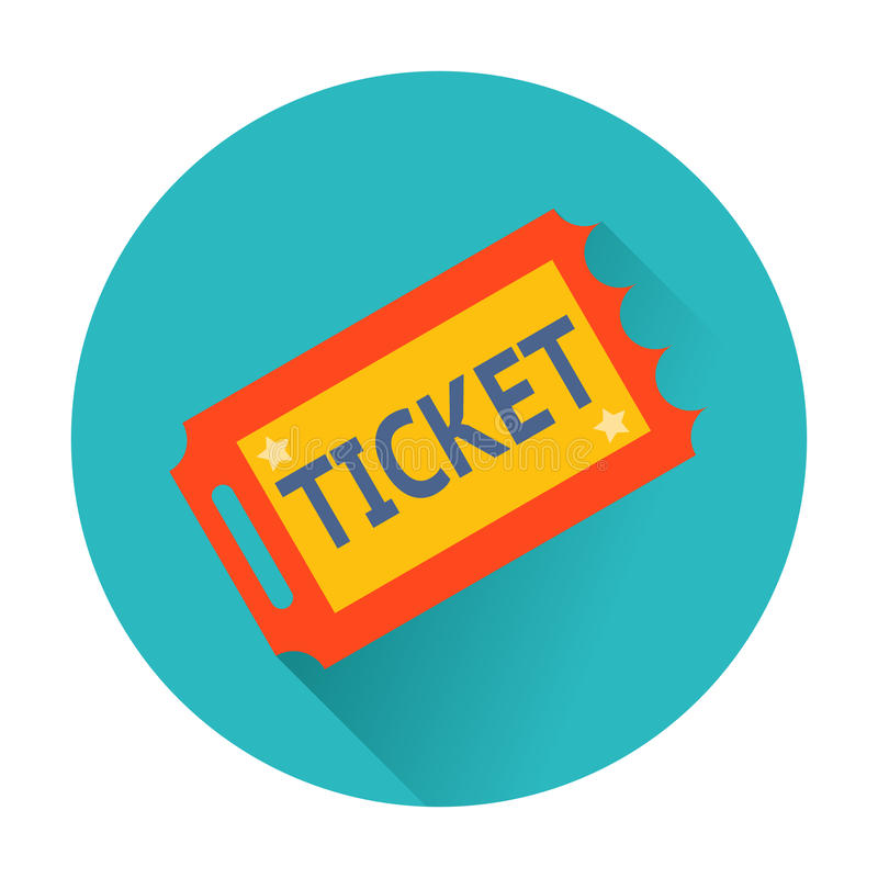 Ticket icon stock illustration