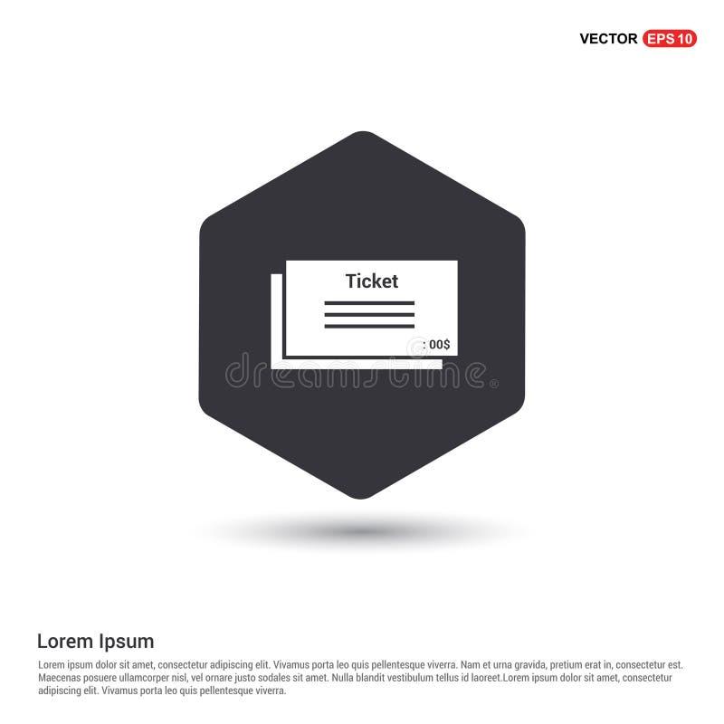 Ticket Icon Hexa White Background icon template royalty free illustration