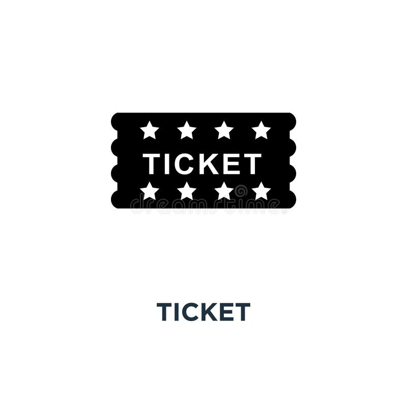 Ticket icon. Simple element illustration. Ticket concept symbol vector illustration