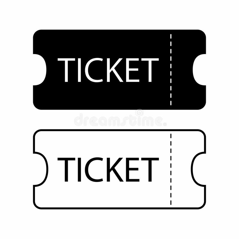 Ticket Icon. Templates For Tickets To The Cinema, Theater, Museum ...