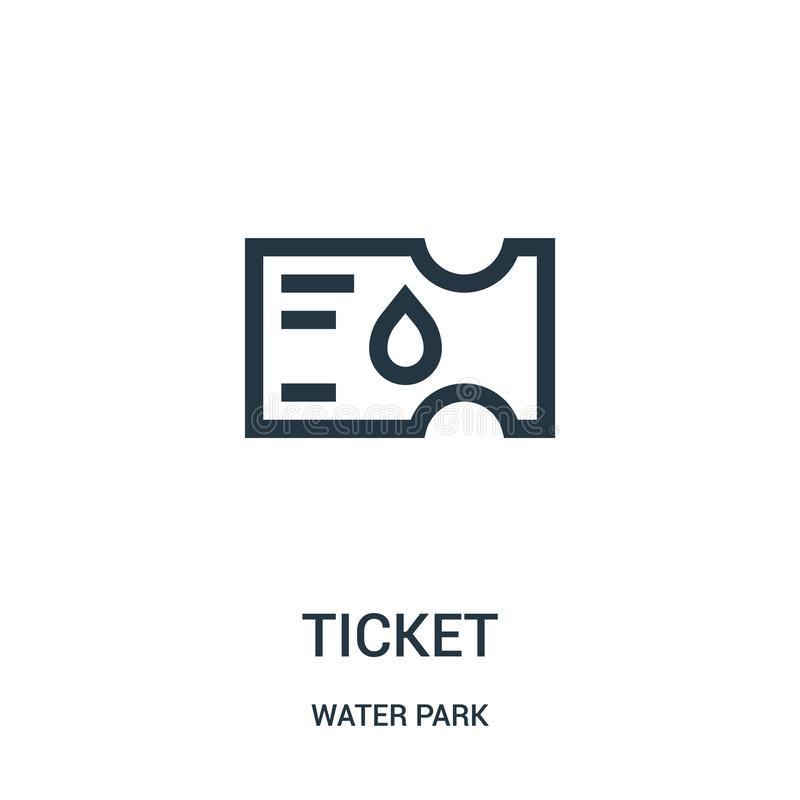 ticket icon vector from water park collection. Thin line ticket outline icon vector illustration. Linear symbol for use on web and vector illustration