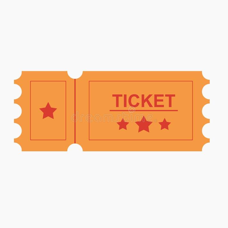 Ticket a ilustração do vetor do ícone no estilo liso ilustração do vetor