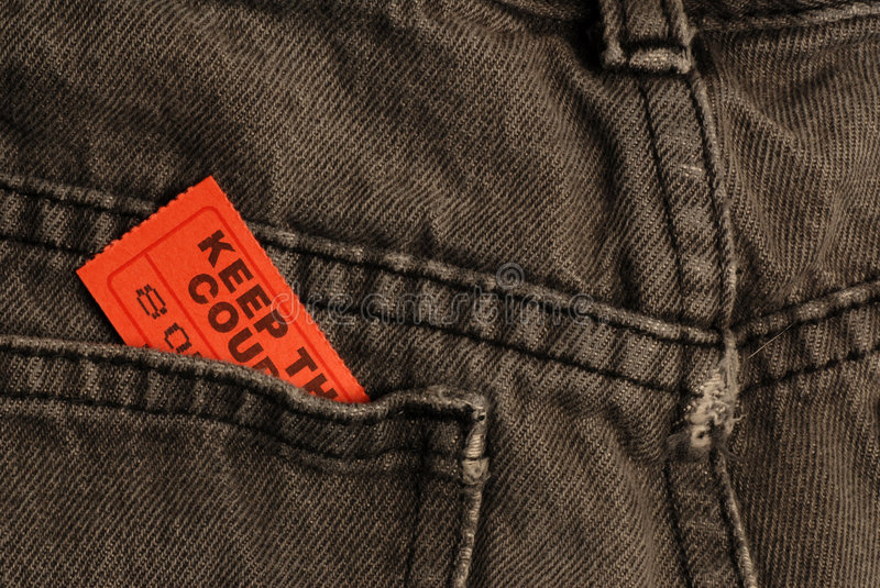 Download Ticket in jeans pocket stock photo. Image of movie, advertising - 7752378