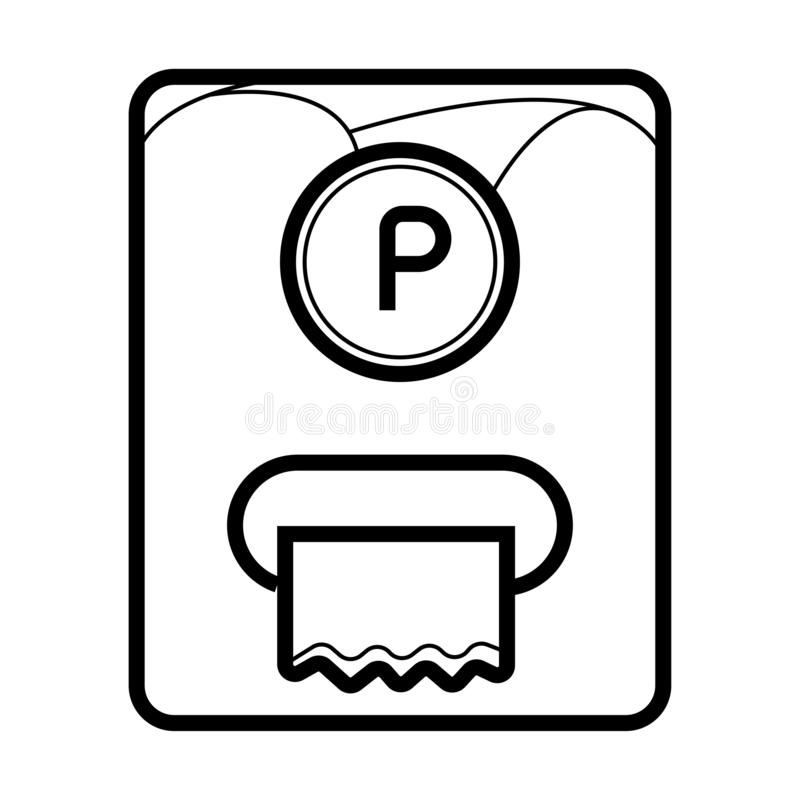 Ticket Machine icon royalty free illustration