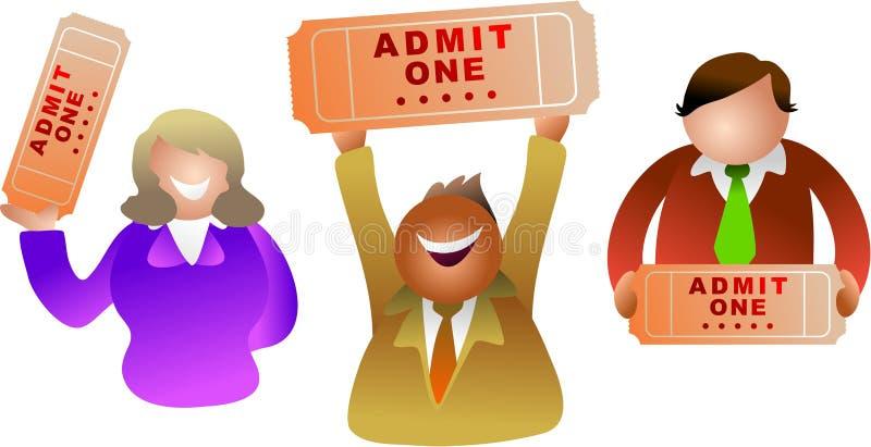 Ticket povos ilustração stock