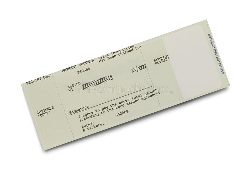 Ticket Receipt royalty free stock images