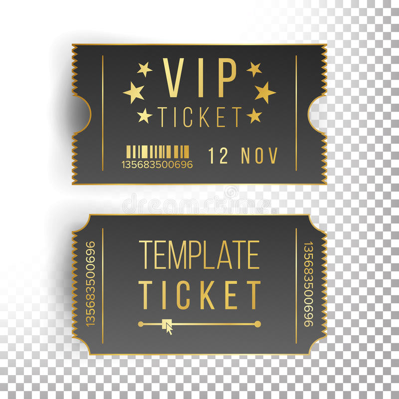 Ticket Template Set Vector Invitation Coupon Stock Vector
