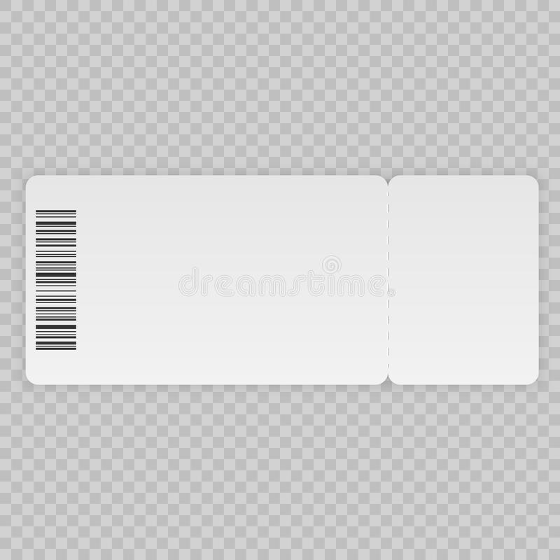Ticket template royalty free illustration
