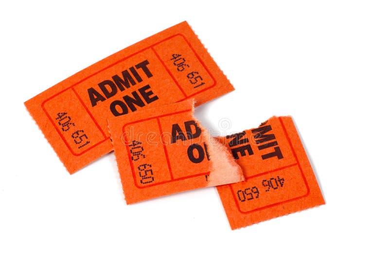 ticket torn στοκ εικόνες
