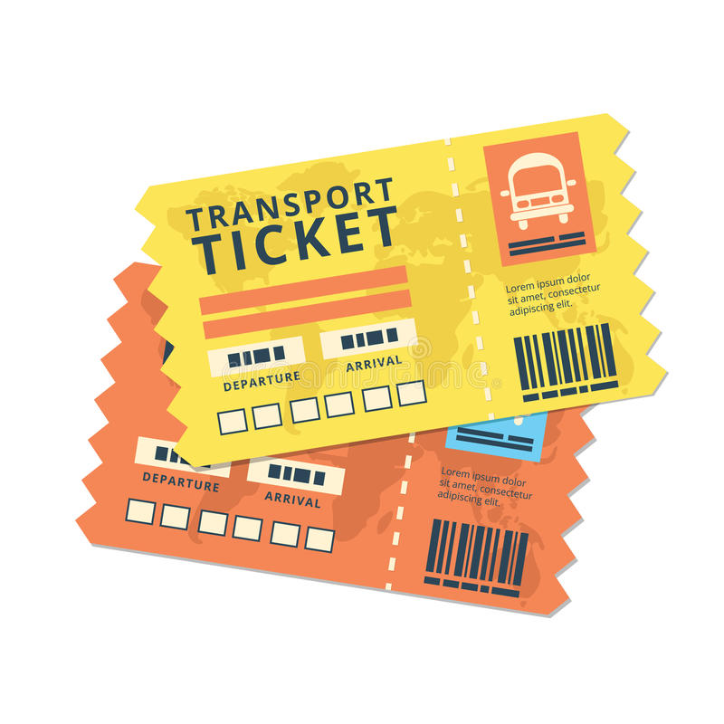 Ticket travel bus icon vector illustration
